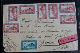 1940 LSC CAD KASBA TADLA 19/9/1940 ADRESSEE A  COMITE INTERNATIONALE  DE LA CROIX ROUGE A GENEVE SUISSE.. - Briefe U. Dokumente