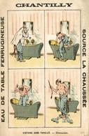RARE CHROMO EAU DE TABLE CHANTILLY HISTOIRE SANS PAROLES DISTRACTION - Other