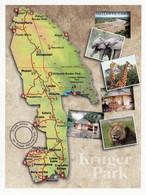 1 Map Of South Africa * 1 Ansichtskarte Mit Der Landkarte Vom Kruger-Nationalpark * - Maps