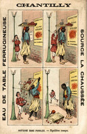 RARE CHROMO EAU DE TABLE CHANTILLY HISTOIRE SANS PAROLES EQUILIBRE ROMPU - Other