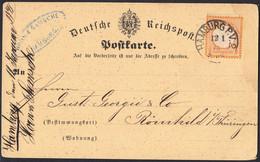 BRUSTSCHILD Nr.18 EF Auf Karte Sauberer K1 HAMBURG P. V. 2 Nach Römhild / Thüringen (ch20) - Brieven En Documenten