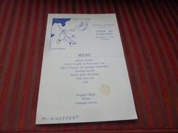 MENU  DINER DE L'AVIATION BOMBARDEMENT CHASSE OBSERVATION  13 /11/19534 ILLUSTRE MARCEL JEANJEAN PAVILLON DAUPHINE - Menu