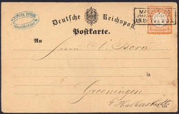 BRUSTSCHILD Nr.18 EF Auf Karte Sauberer NDP-Ra3 MAGDEBURG STADT-POST-EXPED. Nach Groeningen (ch20) - Briefe U. Dokumente