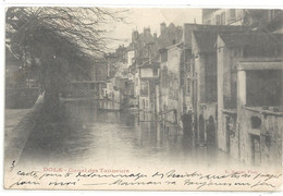 DOLE - CANAL DES TANNEURS . DOS NON DIV AFFR LE 27-2-1904 AU VERSO - 2 SCANES - Dole