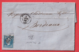 N°60 GC 2420 MONTAGNAC HERAULT BOITE RURALE D ST PARGOIRE BORDEAUX - 1849-1876: Klassik
