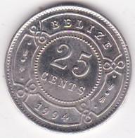 Belize. 25 Cents 1994  Elizabeth II, En Cupronickel. KM# 117 - Belize