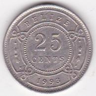 Belize. 25 Cents 1993  Elizabeth II, En Cupronickel. KM# 117 - Belize