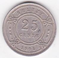 Belize. 25 Cents 1991  Elizabeth II, En Cupronickel. KM# 36 - Belize