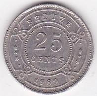 Belize. 25 Cents 1989  Elizabeth II, En Cupronickel. KM# 36 - Belize