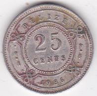 Belize. 25 Cents 1986  Elizabeth II, En Cupronickel. KM# 36 - Belize