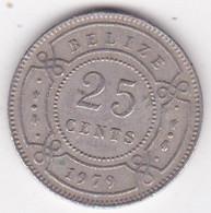 Belize. 25 Cents 1979  Elizabeth II, En Cupronickel. KM# 36 - Belize