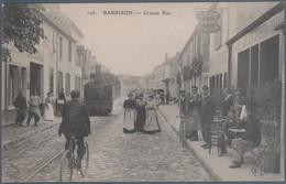 Barbizon , Grande Rue , Tramway à Vapeur , Animée - Barbizon