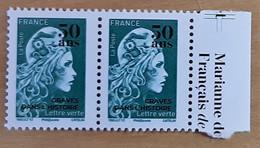 """FRANCE 2020 BDF MARIANNE L'ENGAGÉE VERT SURCHARGÉE """"50 Ans Gravés Dans L'Histoire"""" - Unused Stamps"""