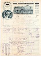 DOUBS - FACTURE DE 1913 - CIE FRANCAISE ET SUISSE D-HORLOGERIE - MONTRES ZENITH ET MOERI A BESANCON - Andere