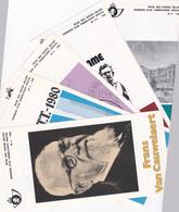 Lot De 15  Feuilets De La Poste De L Annee 1980 Avec Timbres Et Bloc Oblitération Premier Jour - Documents De La Poste