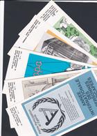Lot De 13  Feuilets De La Poste De L Annee 1981 Avec Timbres Oblitération Premier Jour - Documents De La Poste
