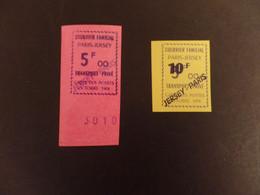 France 1974 Postal Strike Courier Familial 2 Valeurs Non Emis - Jersey