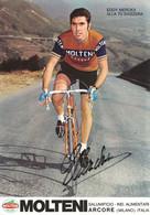 CARTE CYCLISME EDDY MERCK SIGNEE TEAM MOLTENI 1971 ( FORMAT 17 X 24 ) - Radsport