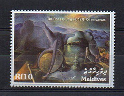 """Salvador Dali - """"The Endless Enigma"""" 1938. - Painting Stamp (Maldives 2004) - MNH (1W2355) - Sin Clasificación"""