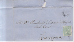 Año 1873 Edifil 133 10c Alegoria Carta Matasellos Rombo Calahorra Logroño Membrete Ramon Barrero - Cartas