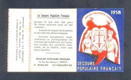 France.1937-59.Bon Lot 8 Documents Secours Populaire,l'Humanité,Déportés Du Travail,Carte Confédérale CGT,etc.Vignettes. - Documentos Históricos