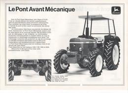 Prospectus Matériel Agricole JOHN DEERE Pont Avant Mécanique Pour Tracteur 1030 1130 1630 2030 Tractor Prospekt 2 Pages - Agriculture
