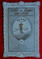 Image Pieuse 1864- Billet Pour Le Ciel - Type Canivet  - Imp. Antonienne Ath - Devotion Images
