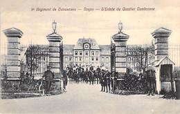 MILITARIA Caserne - 60 - NOYON : 9 ème Régiment De Cuirassiers : Entrée Que Quartier Cambronne - CPA - Oise - Caserme