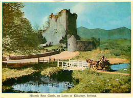 Irlande - Kerry - Historic Ross Castle , On Lakes Of Killarney - Attelage De Chevaux - Ireland - CPM - Voir Scans Recto- - Kerry