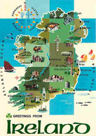 Irlande - Carte Géographique - Carte Neuve - Ireland - CPM - Voir Scans Recto-Verso - Otros