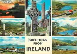 Irlande - Multivues - Roulotte - Croix Celtique - Ireland - CPM - Voir Scans Recto-Verso - Otros