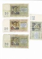 Lot De Billets 20 Franc - 20 Francos