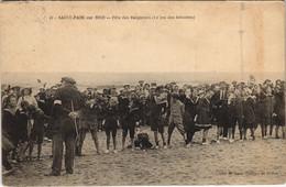 CPA St-PAIR-sur-MER Fete Des Baigneurs Le Jeu Des Brioches (38634) - Saint Pair Sur Mer