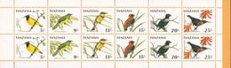 1990 Tanzania Birds Oiseaux Booklet Carnet  MNH - Tanzanie (1964-...)