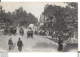 CPA (75) PARIS.  Porte Maillot, Le Retour Du Bois, Animé, Attelage Collectif, Vélo. Pub Bière Bass. ..I 620 - Otros