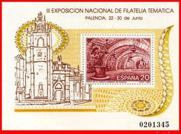 EXPOSICION NACIONAL DE FILATERIA PALENCIA 1990- HOJA CONMEMEMORATIVA - NUEVO-. - Hojas Conmemorativas