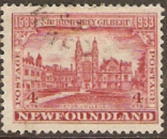 Newfoundland  1933 SG 239  4c  Gilbert     Fine Used - 1908-1947