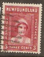 Newfoundland  1938 SG 260  3c   Fine Used - 1908-1947