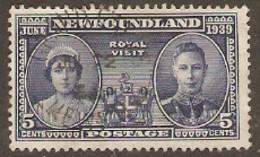 Newfoundland  1938 SG 272  Royal Visit  Fine Used - 1908-1947