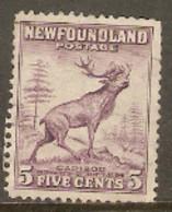 Newfoundland  1941  SG 280a  5c Perf 12,1/2 Fine Used - 1908-1947