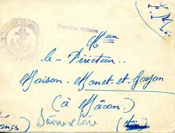 Première Guerre Mondiale Cachet MARINE FRANCAISE SERVICE A LA MER + FRANCHISE MILITAIRE Sans TAD DEVANT SEUL - Guerra Del 1914-18