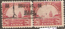 United States Of America  1922 SG 698  20  Golden Gate  Fine Used  Pair - Gebruikt