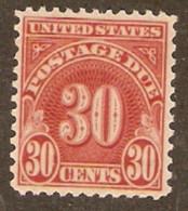 United States Of America  1930  SG  D708   30c  Postage Due  Fine Used - Gebruikt