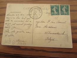 Carte Vue De Lourdes Pour Le RELAIS De WILMARSDONCK En 1914 (cote E) - Sterstempels