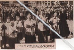 DEURNE - NOORD..1936.. JUBILEUM DER PAROCHIE VAN O.L. V. VAN BIJSTAND MGR. VAN EYNDE WIJDT DE NIEUWE SCHOOL IN - Zonder Classificatie