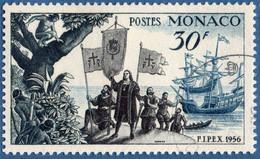 Monaco 1955 30 Fr Columbus Landing Amerika 1 Value Cancelled 2011.0609 - Unclassified
