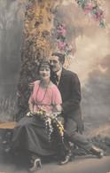 "10310""INNAMORATI""-VERA FOTO-CARTOLINA SPEDITA 1923 - Couples"