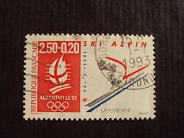 "1990-99 - Oblitéré N°  2710  ""   Ski Alpin    ""   Bordeaux      ""    Net  0.60 - Used Stamps"