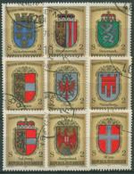 Österreich 1976 1000 Jahre Republik Wappen 1522/30 Blockmarken Gestempelt - 1971-80 Nuevos & Fijasellos