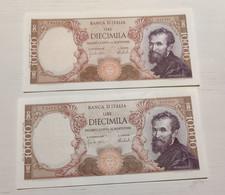 10000 Lire Michelangelo 1973 Consecutive - 10000 Lire